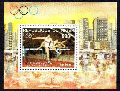Niger 1974, aršík LOH Los Angeles 84, svěží