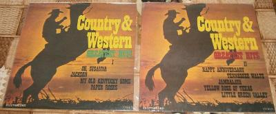 LP - Country & Western - Greatest Hits 1 a 2 (2xLP) / Perfektní stav!