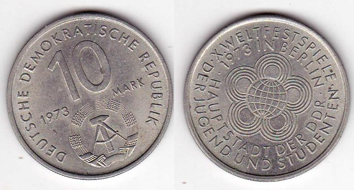 Německo , 10 marek 1973 ,  M87 - Numismatika
