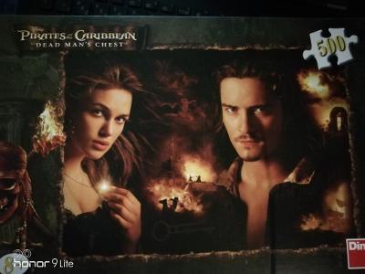 Puzzle Piráti z Karibiku: Will a Elizabeth 500 dílků
