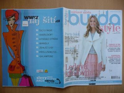 Časopis - BURDA style - Světová móda - číslo 1 z ledna roku 2015