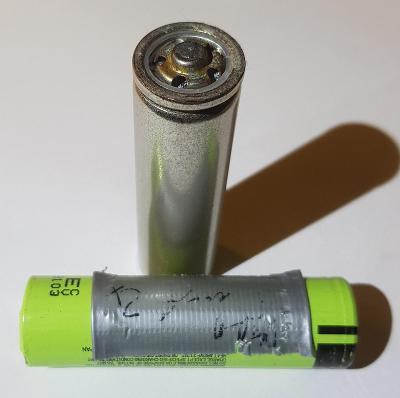 18650 Panasonic  Staré použité a vadné li-ion 2ks