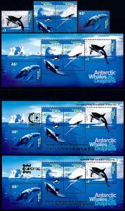 Australská Antarktida 1995 **/Mi. 102-5 + 3x Block 1 a,b,c ,   /L22/