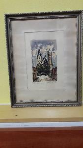 Svatopluk Havrlík akvarel rok 1945