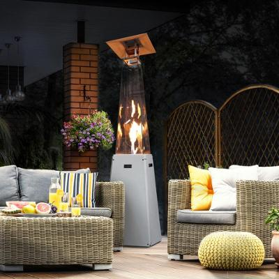 Plynový ohřívač UMBRELLA BS bílý topný deštník Plynový terasový zářič