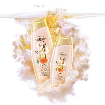 Krémový sprchový gel s vůní broskve a vanilky 500 ml