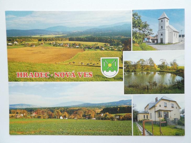 Hradec - Nová Ves, okr, Jeseník - ERB - Pohlednice