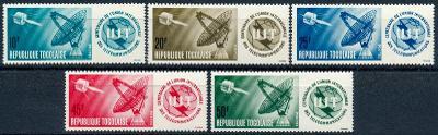 Togo 1965 **/Mi. 457-61 , komplet  , kosmos , /L22/