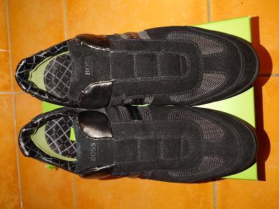 Prodám nové pánské boty Hugo Boss Stiven černé.