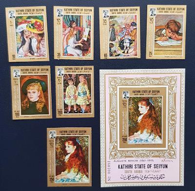 Arábie Aden Kathiri 1967, umění, obrazy Renoir, kat. cena 120 Euro!!