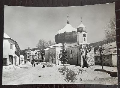 Klatovy Šumava Železná Ruda část obce kostel