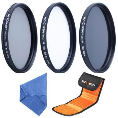 3x HD slim UV + CPL + ND4 Filtr 62mm + dárek