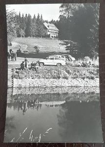 Klatovy Šumava Železná Ruda Špičák Hotel Hrnčíř exteriér auto