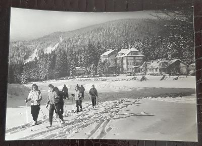 Klatovy Šumava Železná Ruda Špičák Zotavovna Prokop lyžaři