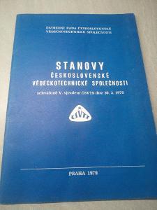 Stanovy československé vědeckotechnické společnosti, Praha 1979