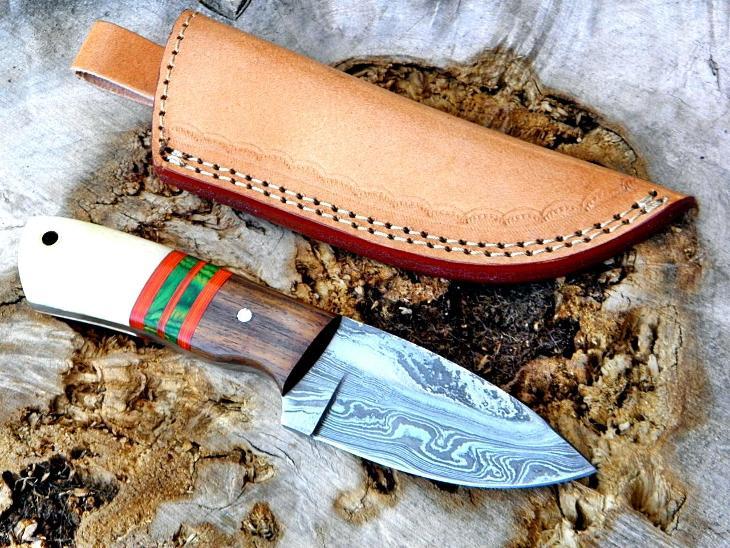 281/ Damaškový lovecky nůž. Rucni vyroba.   - Střelba a myslivost