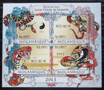 Mosambik 2013 Čínský nový rok, rok hada Mi# 6389-92 Kat 13€ 2145
