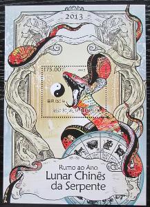 Mosambik 2013 Čínský nový rok, rok hada Mi# Block 729 Kat 10€ 2145