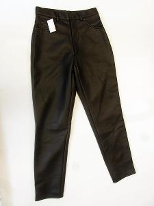 Koženkové dámské kalhoty - vel. 10, pas: 72 cm