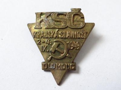 KSČ 1949, OLOMOUC - KRAJSKÁ SLAVNOST