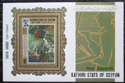 Aden Kathiri 1967 Umění, Paul Gauguin Mi# Block 3 A Kat 16€ 2151