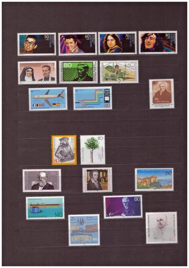 NĚMECKO - BRD, ZÁPAD - SBÍRKA ZNÁMEK A ARŠÍKŮ, VŠE FOTO (S998) - Filatelie