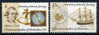 Australská Antarktida 1972 **/Mi. 21-2 , komplet , lodě , /L22/