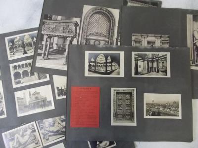 Itálie Firenze  architektura Sestava konvolut pohlednice fotografie