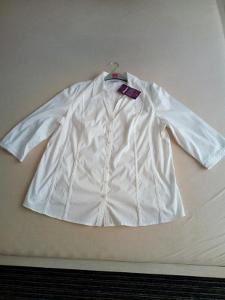 Dámská bílá halenka, vel. 50 - NOVÁ s visačkou