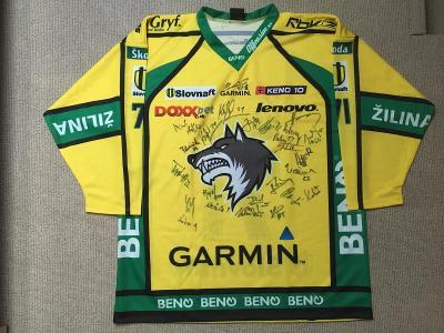 Hokejový Dres Žilina, podepsaný celým mužstvem, sezóna 2008/2009