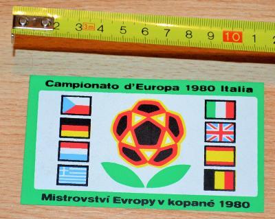 MISTROVSTVÍ EVROPY V KOPANÉ ITÁLIE (1980) - DOBOVÁ RETRO SAMOLEPKA