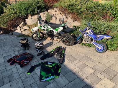Motocykl cross pitbike 125 MiniRocket CRF50 + minibike + příslušenství