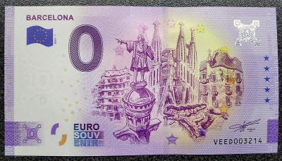 Barcelona - velmi vzácná a hledaná 0 EUR bankovka