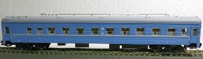 TT-MODEL 2030 Osobní vůz se služebním (modrý) SZD Ep.III-IV TT 1:120