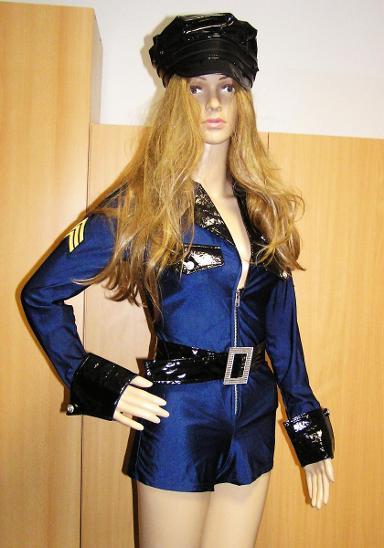 9770 POLICISTKA - karnevalový kostým pro dospělé vel.S - Dámské oblečení