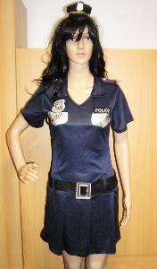 9771 POLICISTKA - karnevalový kostým pro dospělé vel.S