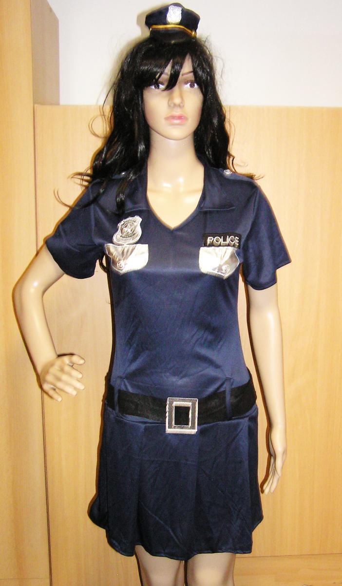 9771 POLICISTKA - karnevalový kostým pro dospělé vel.S - Dámské oblečení