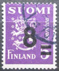 Finsko 1946 Státní znak přetisk Mi# 324 2155