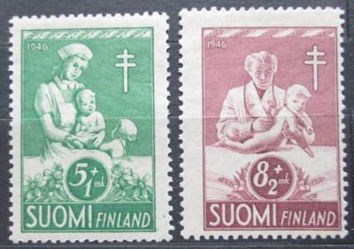 Finsko 1946 Boj proti tuberkulóze Mi# 326-27 2155