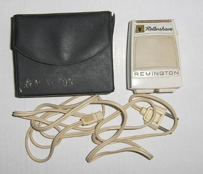 vintage elektrický holící strojek Remington Rollershave - funkční