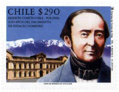Chile 2002 Známky Mi 2064 ** Domeyko Polsko společné uvolnění geologie