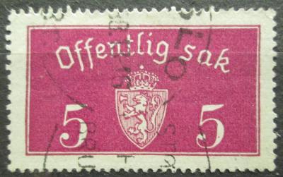 Norsko 1933 Státní znak, úřední Mi# 10 I 2155