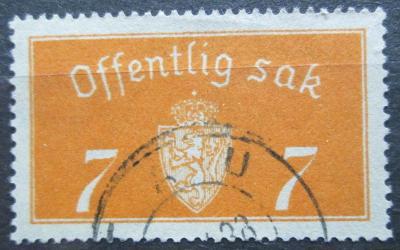 Norsko 1933 Státní znak, úřední Mi# 11 I Kat 5€ 2155