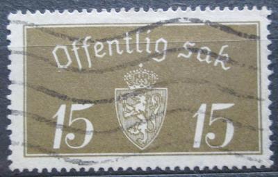 Norsko 1933 Státní znak, úřední Mi# 13 I 2155