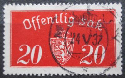 Norsko 1933 Státní znak, úřední Mi# 14 I 2155
