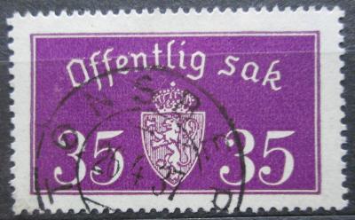 Norsko 1935 Státní znak, úřední Mi# 17 II 2155