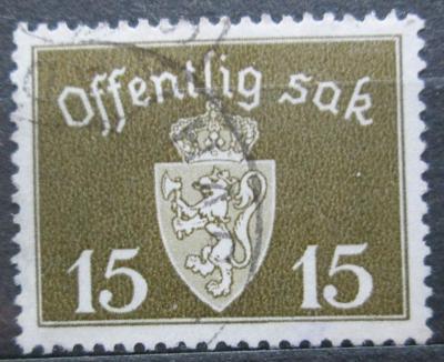 Norsko 1937 Státní znak, úřední Mi# 25 a 2155
