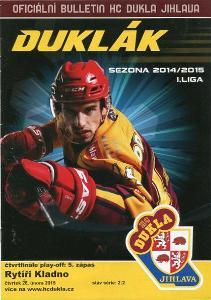 program hokej - Dukla Jihlava - Rytíři Kladno 2015