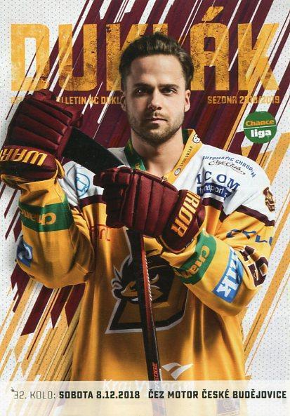 program hokej - Dukla Jihlava - Motor České Budějovice 2018 - Sportovní sbírky