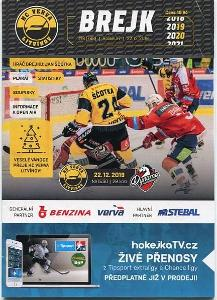 program hokej - HC Verva Litvínov - HC Dynamo Pardubice 2019